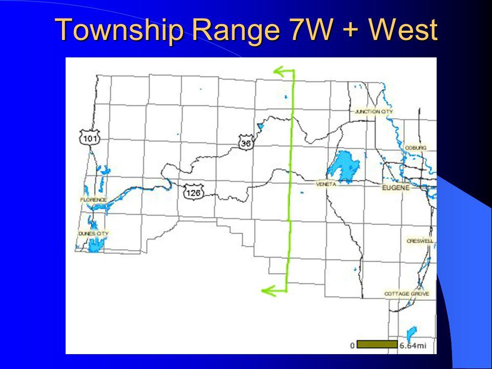 Township Range 7W + West