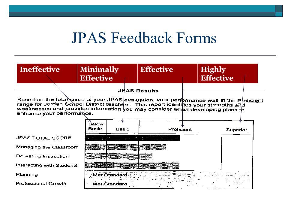 JPAS Feedback Forms