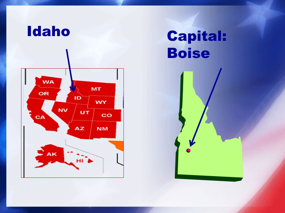 Capital: Boise Idaho