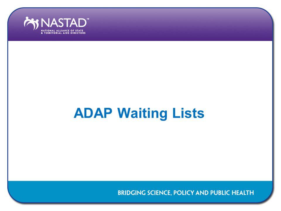 ADAP Waiting Lists