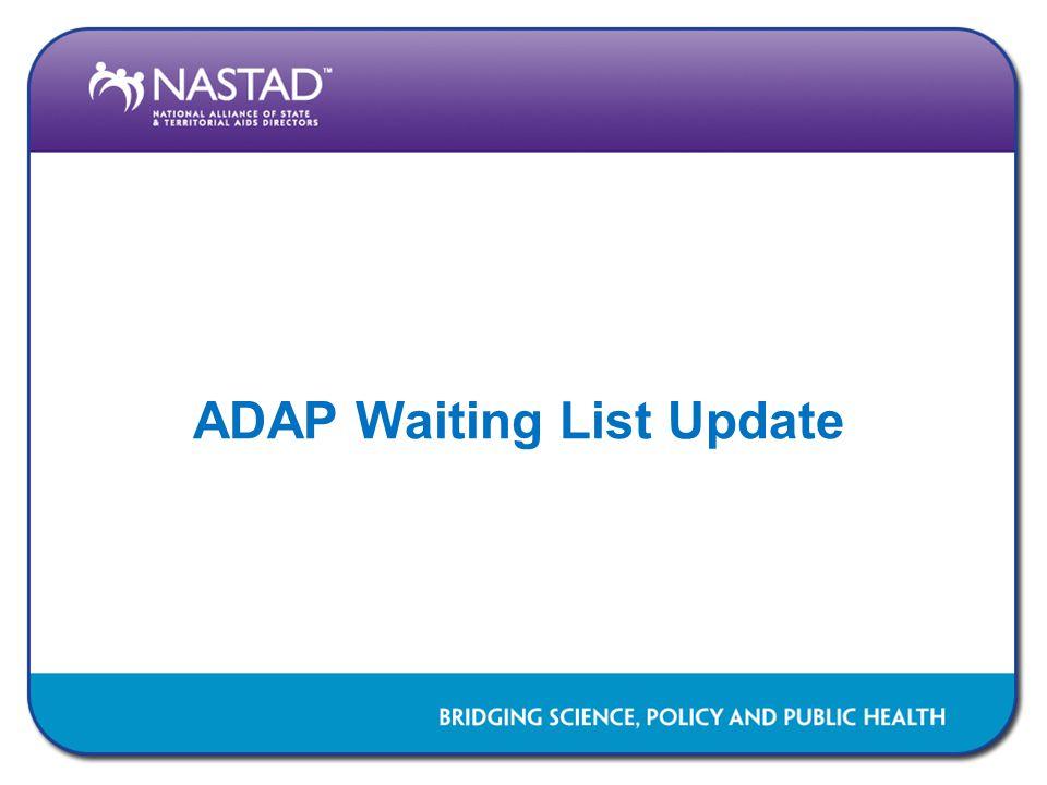 ADAP Waiting List Update
