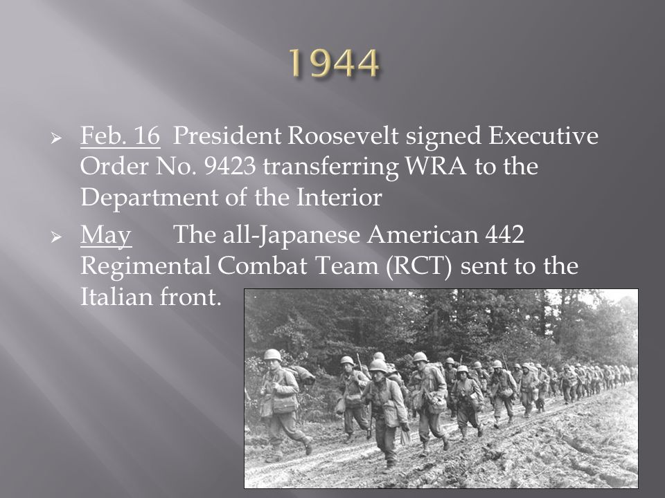  Feb. 16President Roosevelt signed Executive Order No.