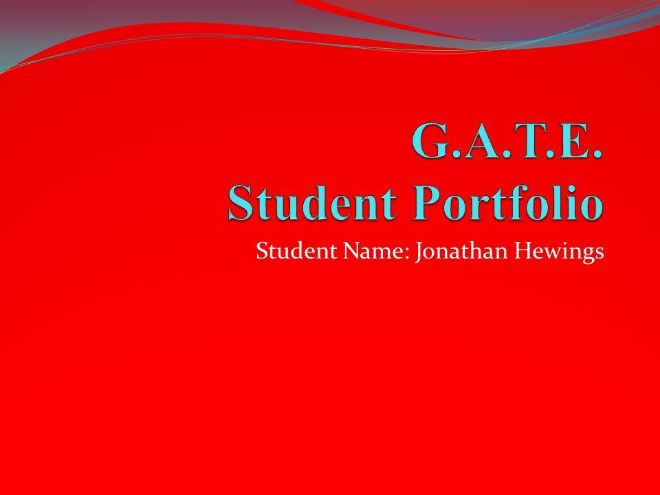 Student Name: Jonathan Hewings