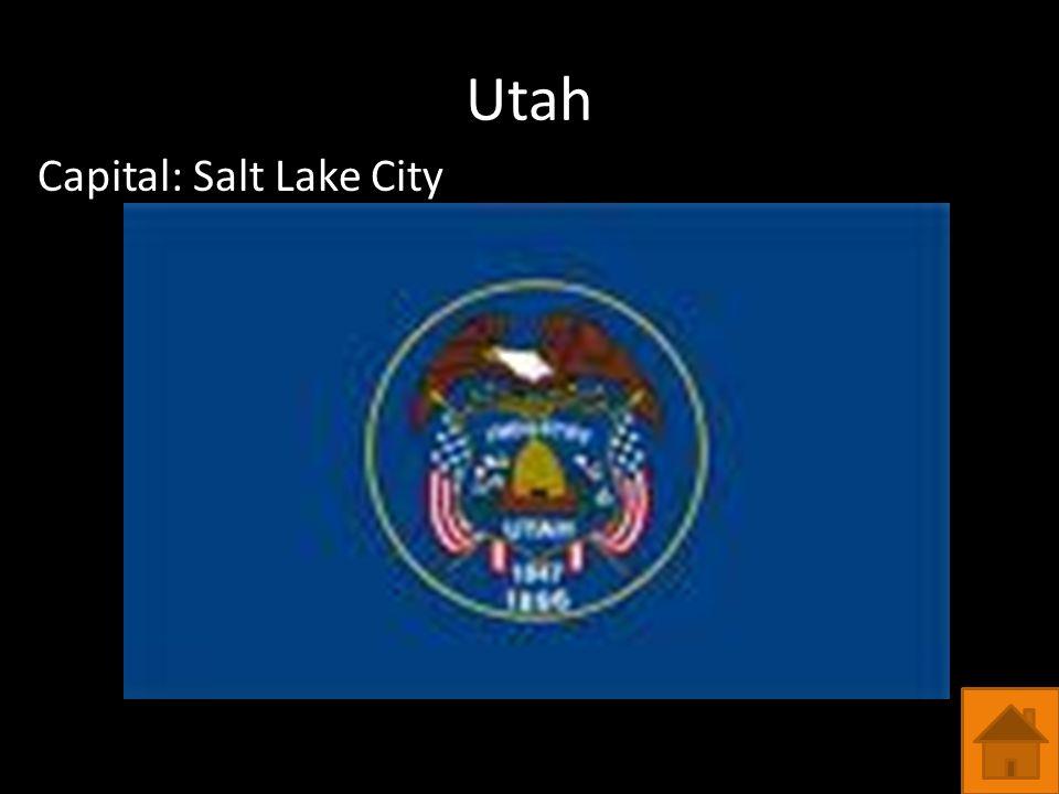 Utah Capital: Salt Lake City