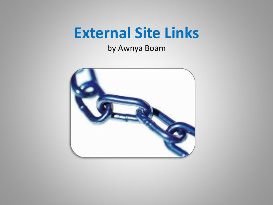 Links are found… …almost everywhere on the internet.