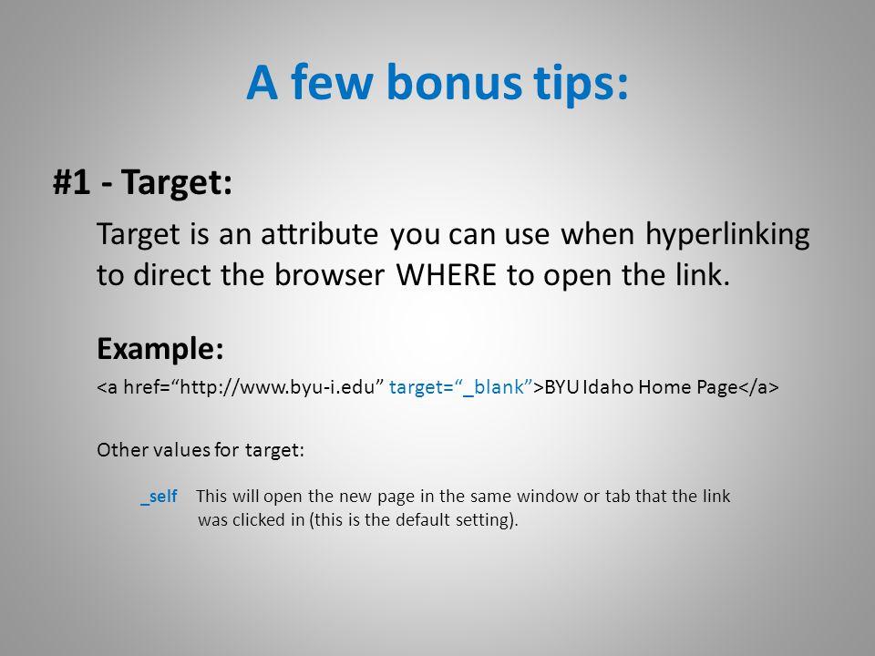 A few bonus tips: #2 – Close your tag.