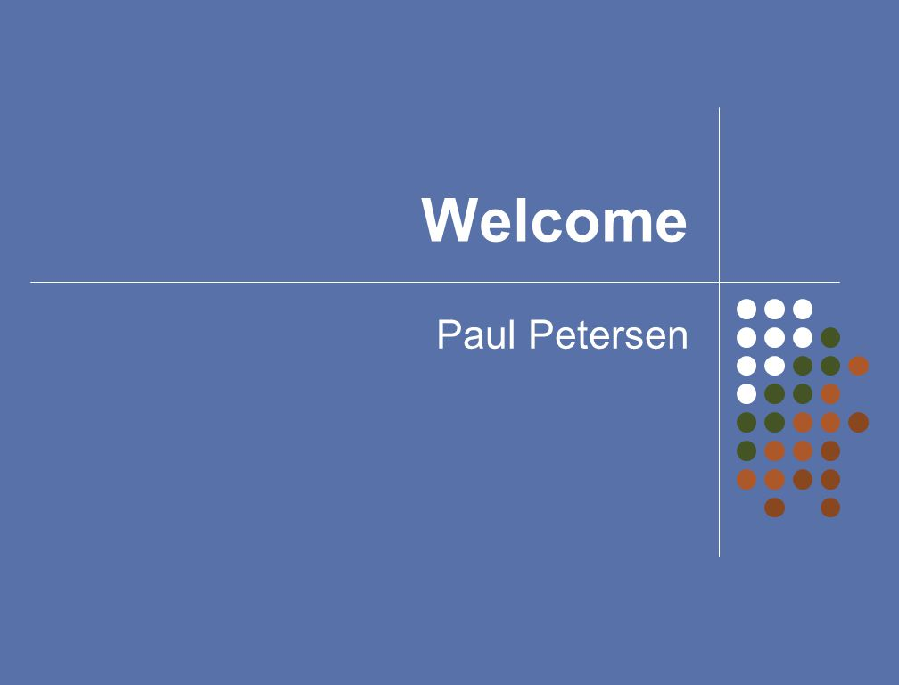 Welcome Paul Petersen
