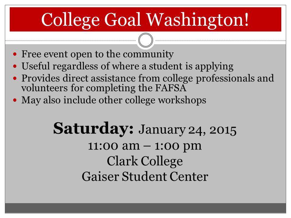College Goal Washington.