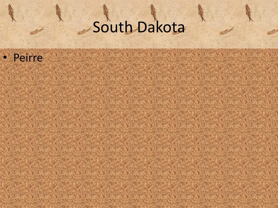 South Dakota Peirre