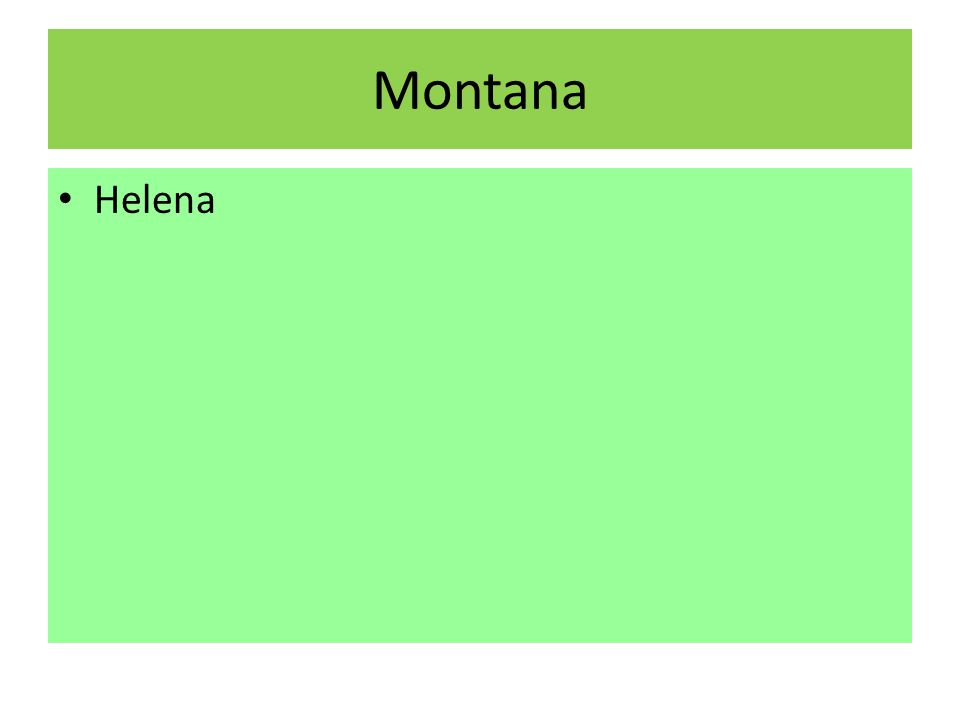 Montana Helena