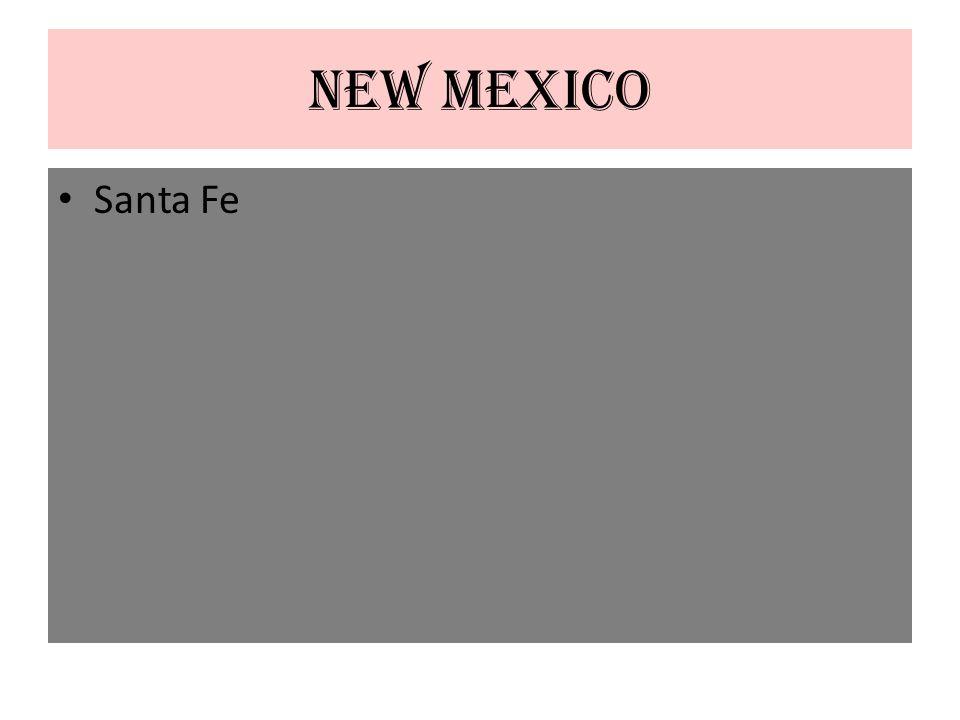 New Mexico Santa Fe