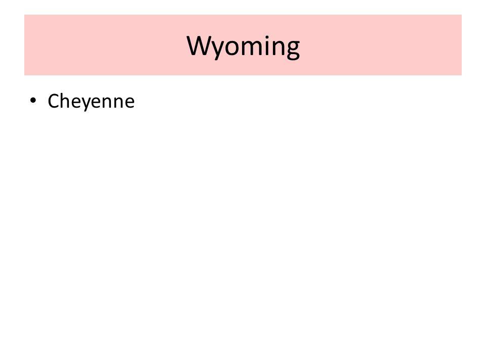 Wyoming Cheyenne