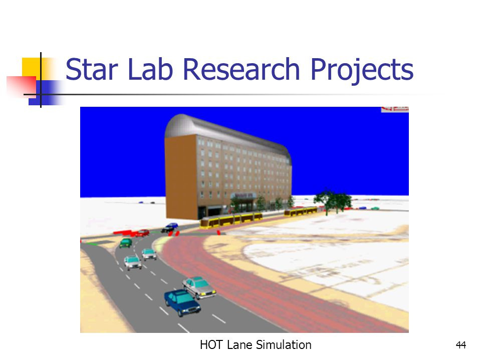 44 Star Lab Research Projects HOT Lane Simulation