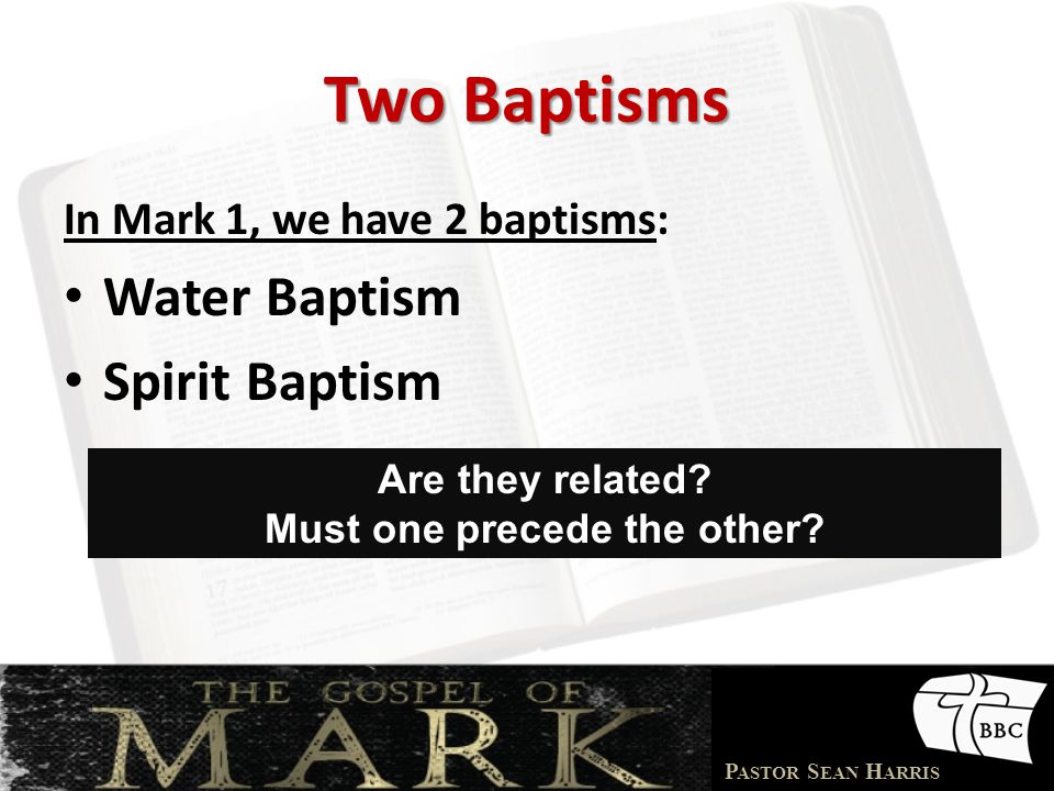 P ASTOR S EAN H ARRIS Are Baptists Guilty.
