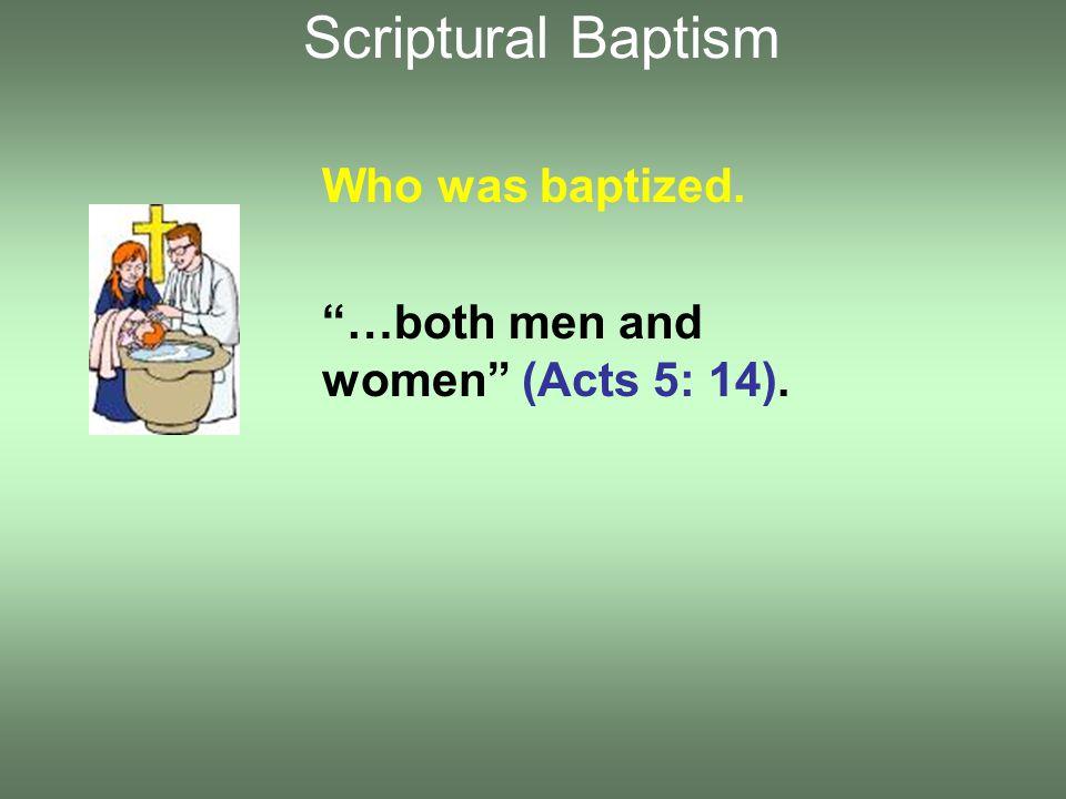 Who did the baptizing.Apollos and Philip baptized (I Cor.
