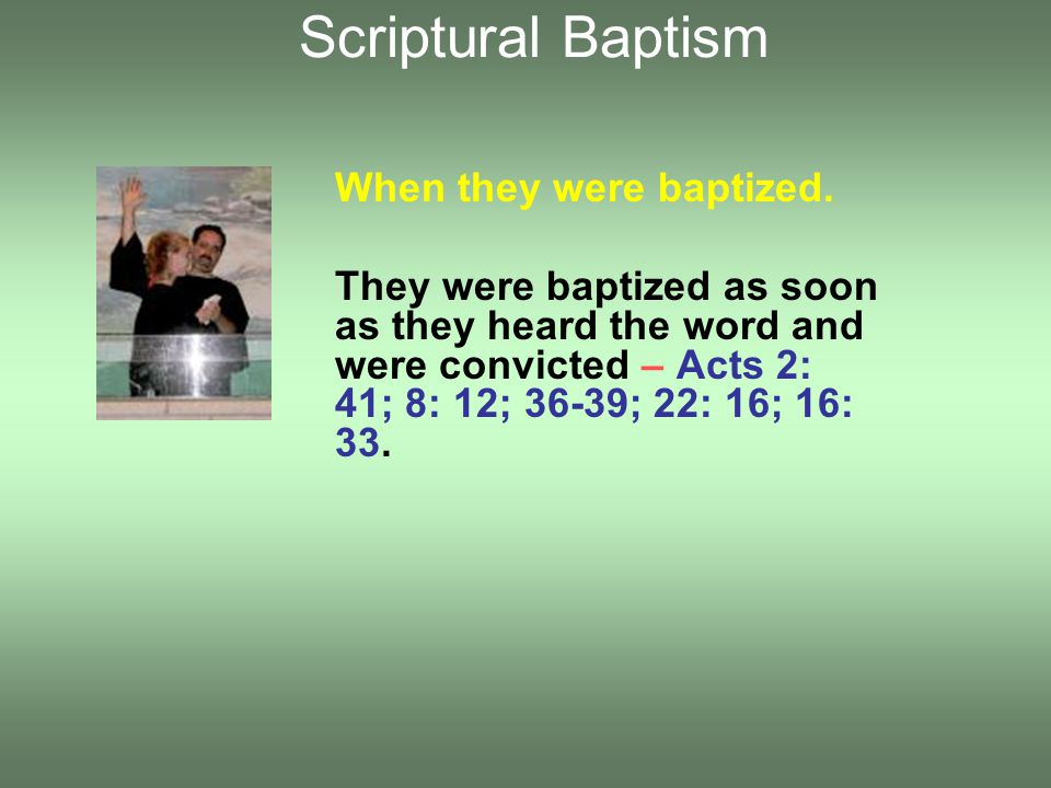What baptism does not do.Does not forgive all future sin.