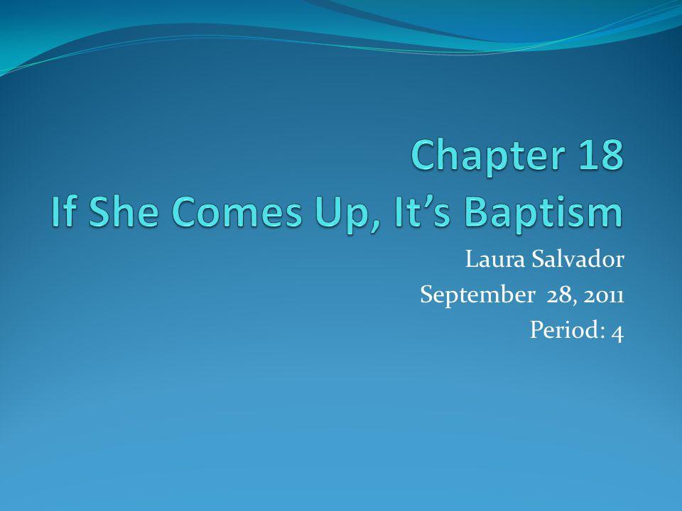 Laura Salvador September 28, 2011 Period: 4