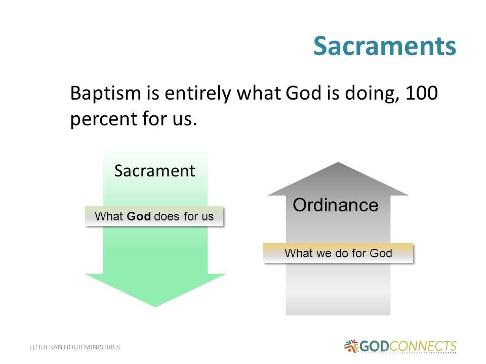 LUTHERAN HOUR MINISTRIES What Does Baptism Do.