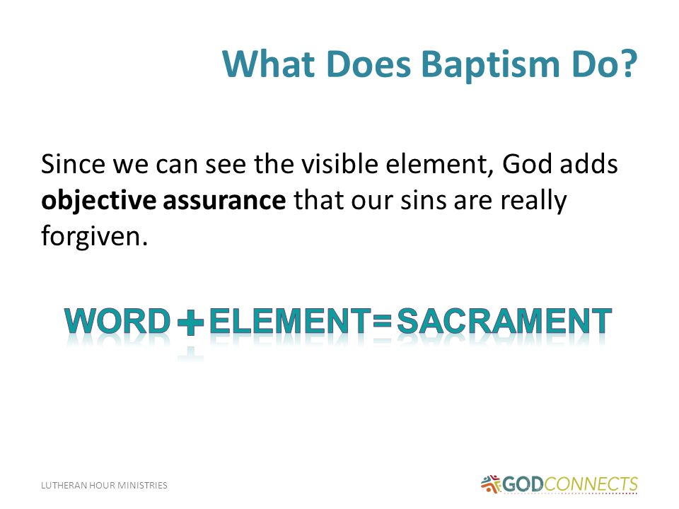 LUTHERAN HOUR MINISTRIES Baptism of Children While some churches object to infant Baptism, the Bible gives four reasons why infants should be baptized: 1) Jesus commanded His church to make disciples of all nations, which includes children.