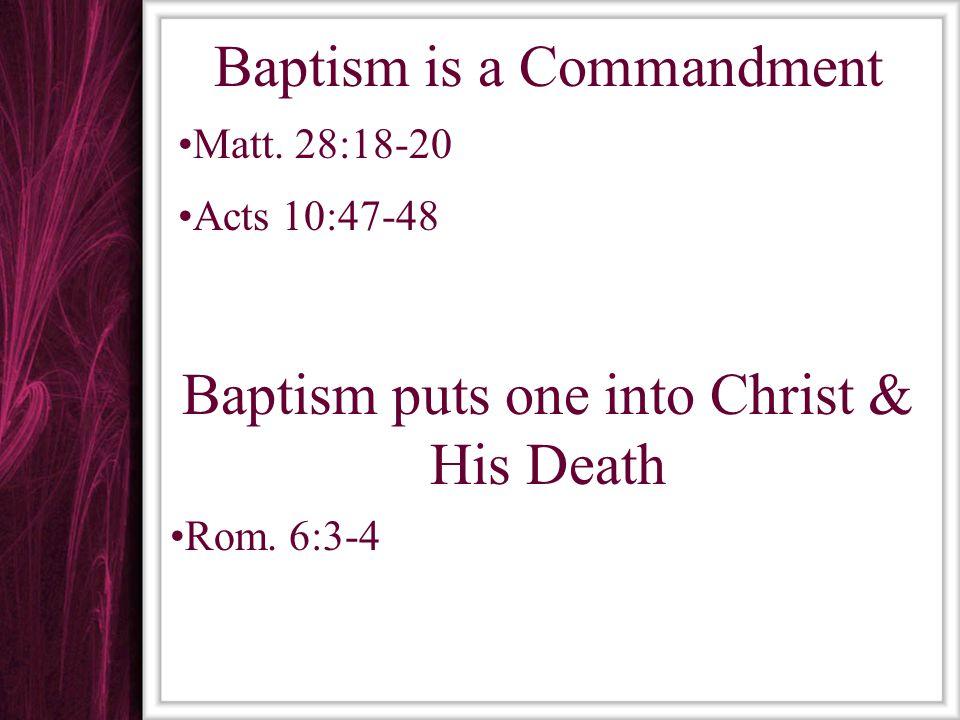 Baptism Baptism Saves Mk.