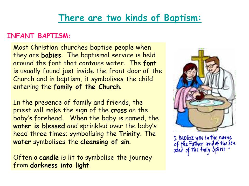 When a person becomes a Christian, at some stage, he or she will be baptised and welcomed into the family of the church.