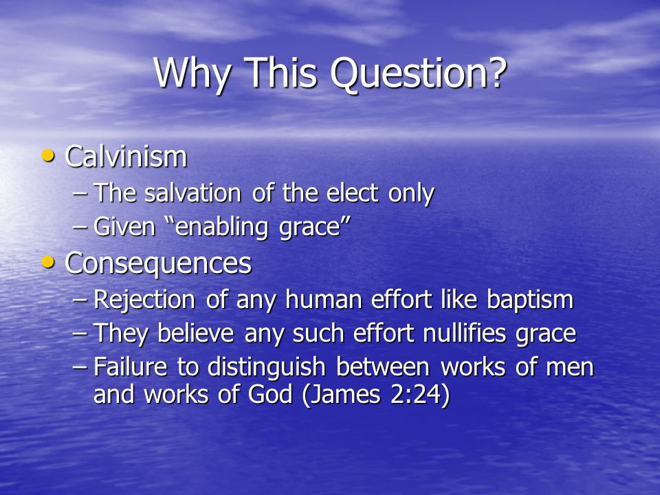 Which Baptism Is For Today.