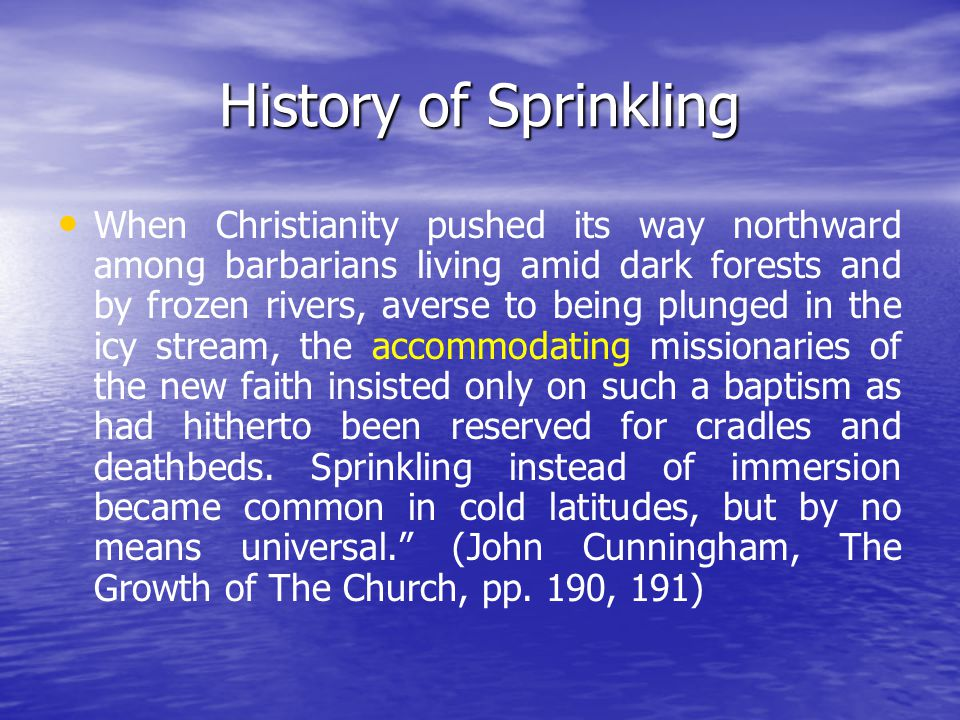 What Is The Form of Baptism.
