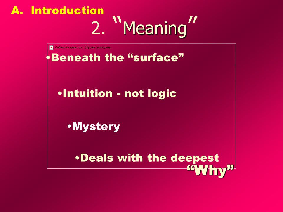 Meaning 2.