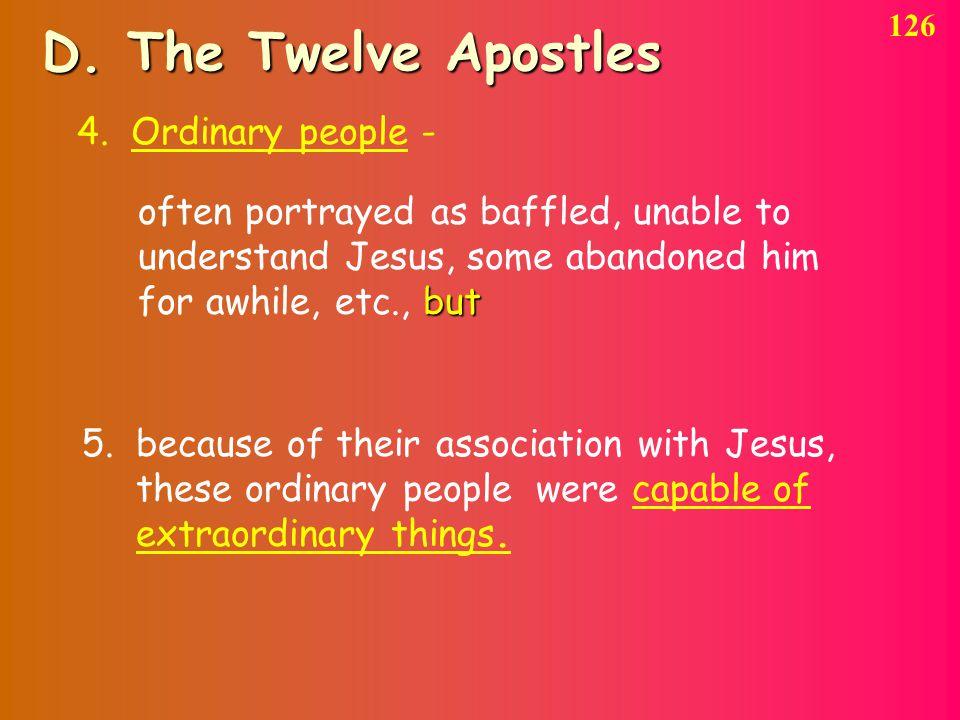 D. The Twelve Apostles 126 4.