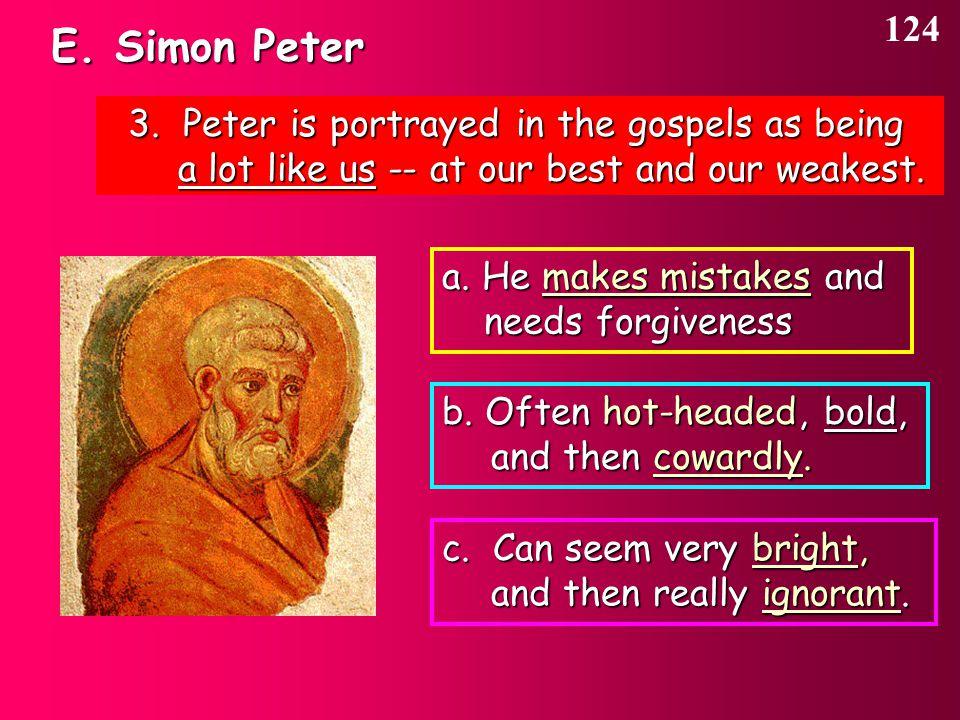 E. Simon Peter 124 3.