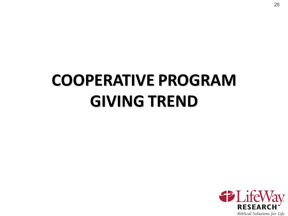 28 COOPERATIVE PROGRAM GIVING TREND