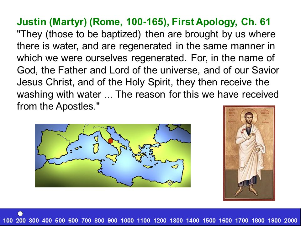 Justin (Martyr) (Rome, 100-165), First Apology, Ch.