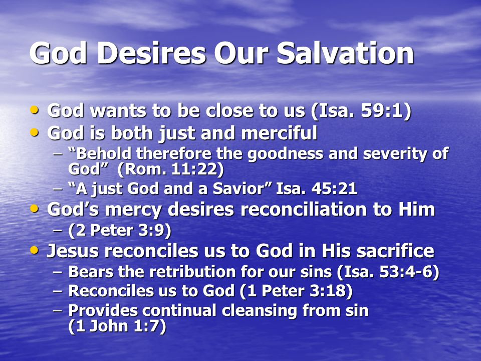 What is God's Plan for Salvation?