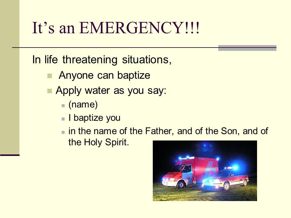 It's an EMERGENCY!!.