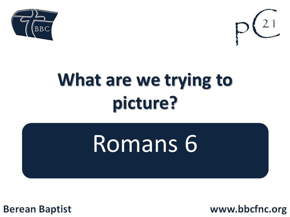 What are we trying to picture? Romans 6
