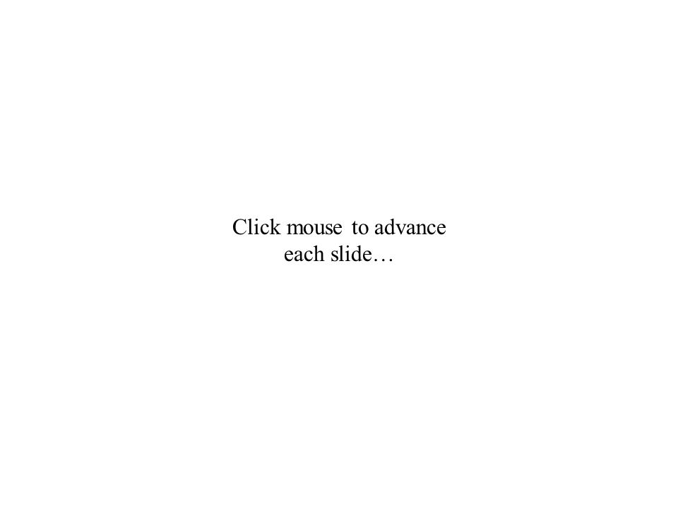 Click mouse to advance each slide…