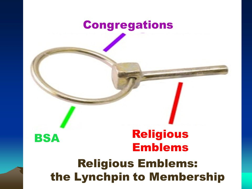 What's in it for Councils: Program Religious organizations teach the religious emblems programs Recruit clergy for religious retreats and camporees Chaplains