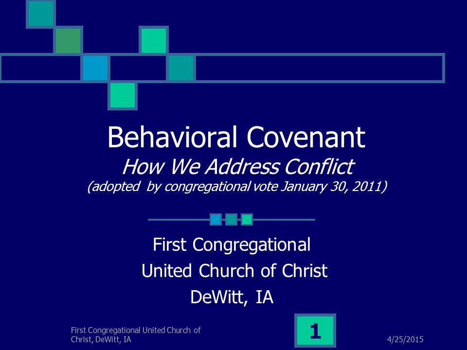 4/25/2015 First Congregational United Church of Christ, DeWitt, IA 2 Theological Underpinnings: Word & Sacrament