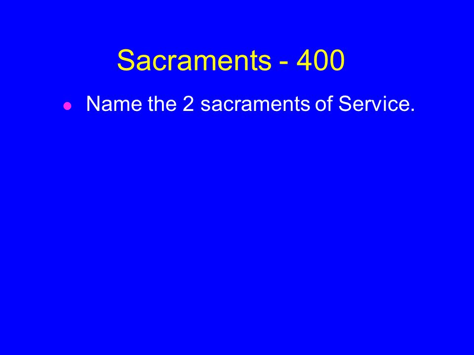 ANSWER Sacraments- 300 Reconciliation and Anointing of the Sick