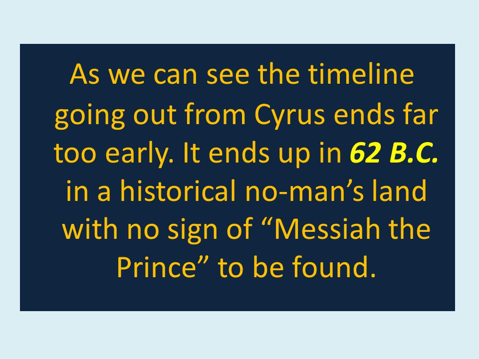 As we can see the timeline going out from Cyrus ends far too early.