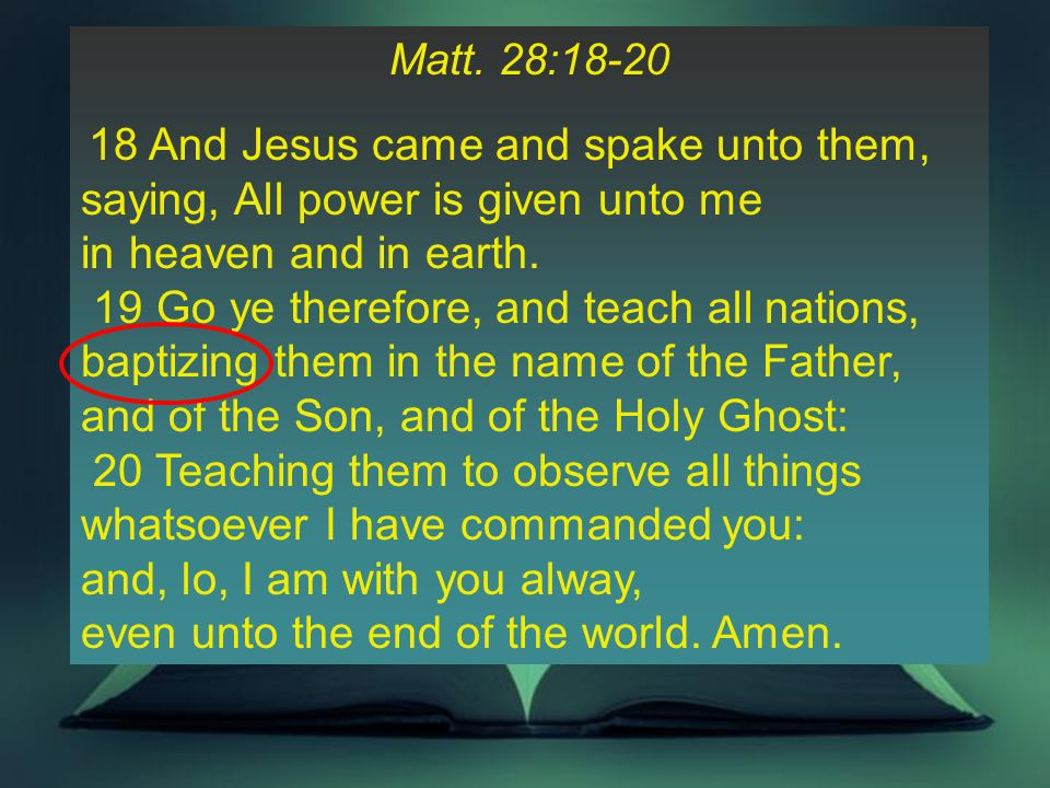 37 III.Why Did Paul Say We Must Leave the doctrine of baptisms? C.