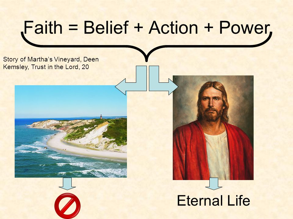 Faith = Belief + Action + Power Story of Martha's Vineyard, Deen Kemsley, Trust in the Lord, 20 Fame Power Popularity Money Lust Eternal Life