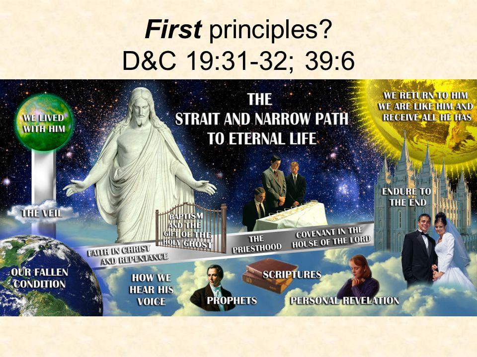 First principles.