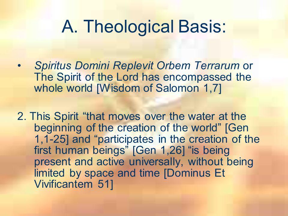 Theological Basis: 3.