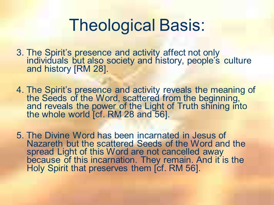 Theological Basis: 6.St.