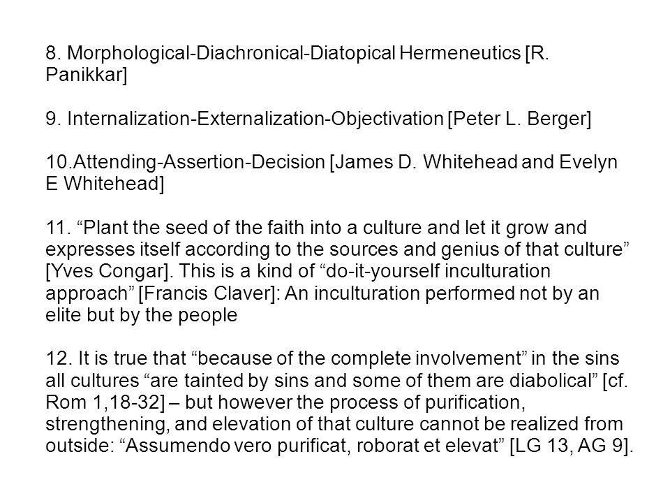 C.An example: Inculturation undergone by Aloisius Pieris in Sri Lanka: 1.