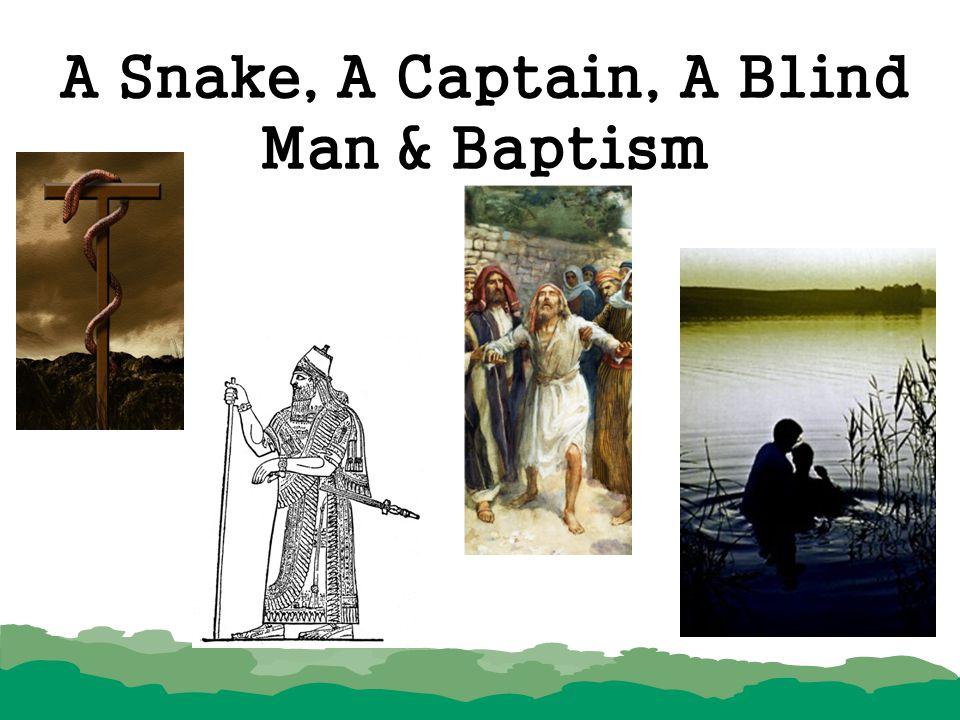 A Snake, A Captain, A Blind Man & Baptism