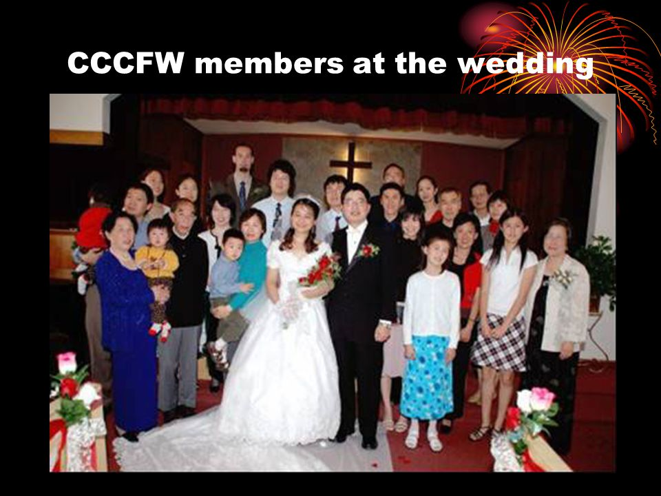 CCCFW members at the wedding