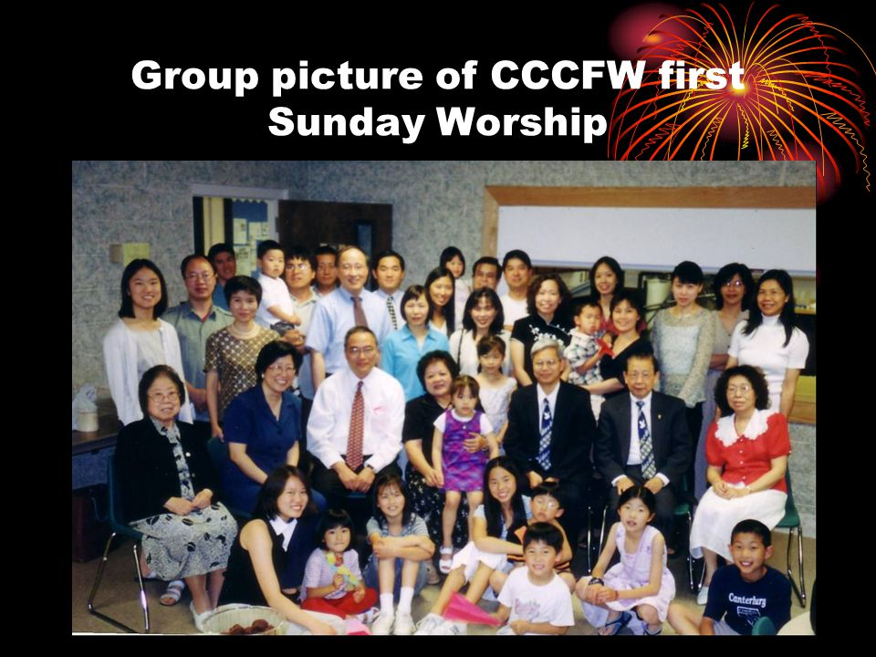 Group picture of CCCFW first Sunday Worship