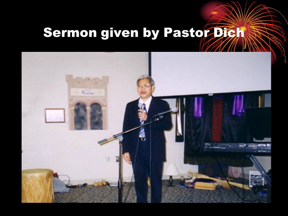 Sermon given by Pastor Dich